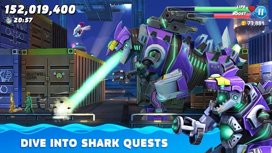 hungry shark world mod apk (unlimited money and gems latest version)